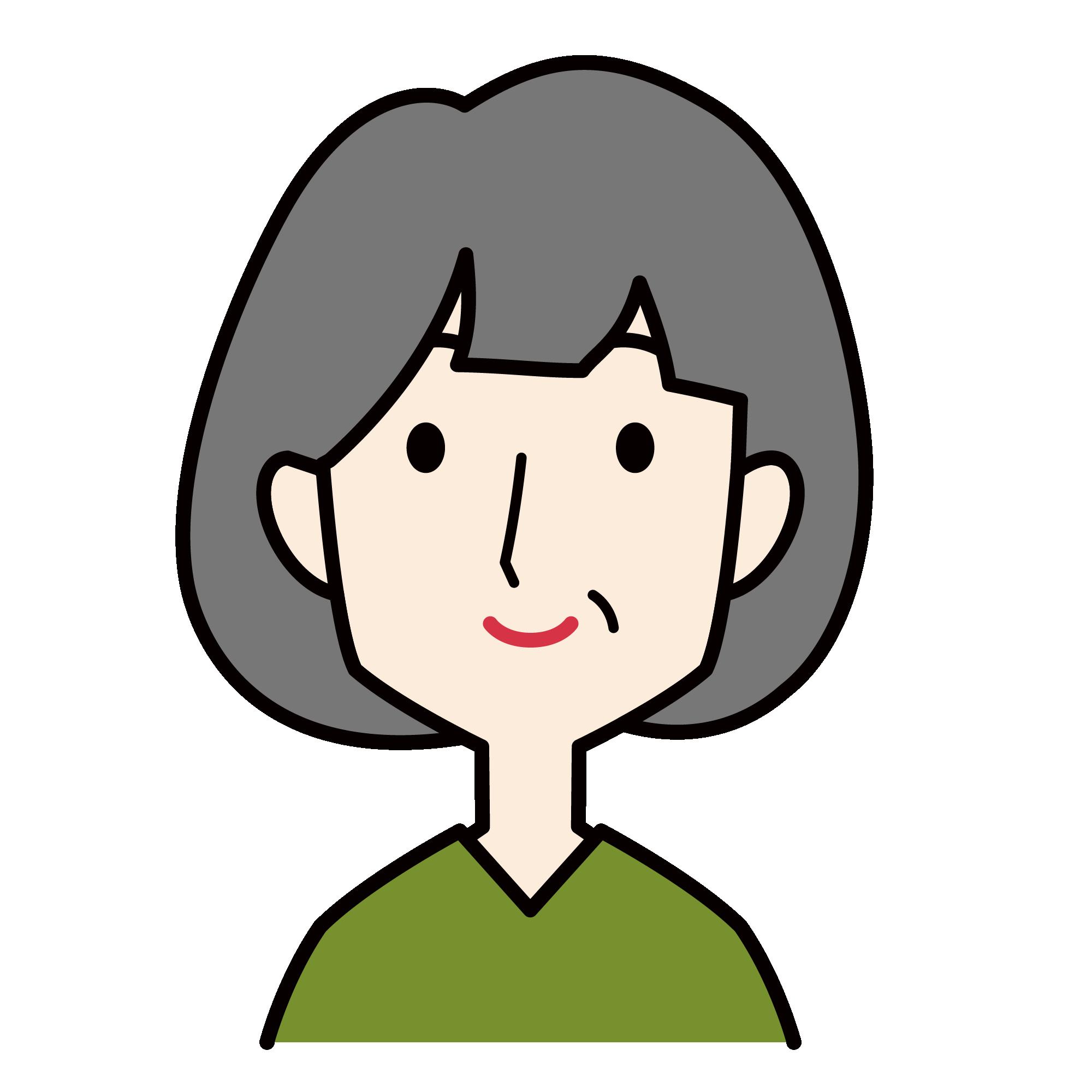 イラスト ぱっつん 前髪